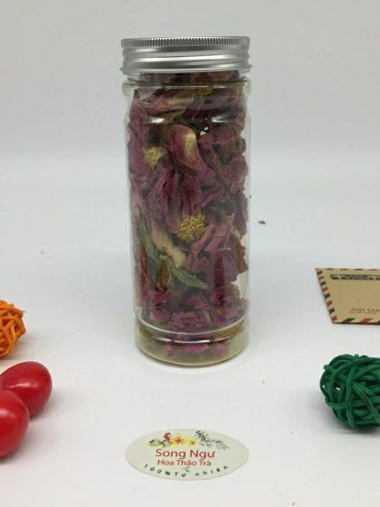 trà hoa mẫu đơn nguyên bông lọ 350ml- 25g