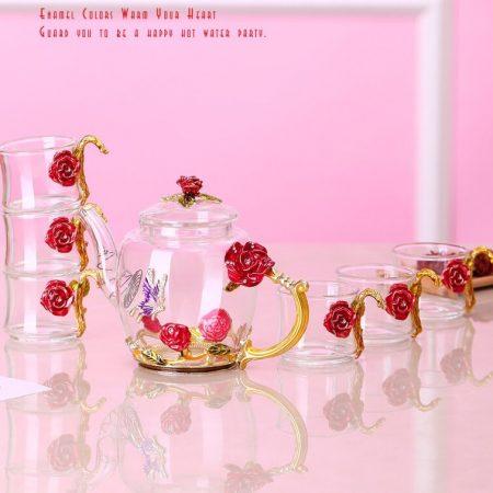 Bạn chọn cốc( ly) thủy tinh enamel hoa nào cho mình?